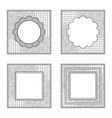 four square frames for color book or other design vector image