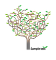 Stylized tree and icon vector image vector image