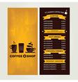 Coffee house menu restaurant template design vector image