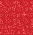 Christmas themed seamless pattern vector image