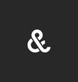 Ampersand logo monogram typography hipster black vector image