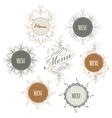 set of sign with menu inscription vector image vector image