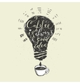 Coffee is always a good idea lettering vector image