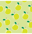 apple seamless background vector image vector image