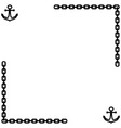 anchor and chain frame 1401 vector image