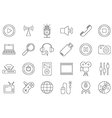 black house electronic icons set vector image