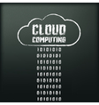 Blackboard with image of cloud computing vector image
