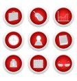 business button set vector image