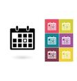 Calendar icon or calendar pictogram vector image