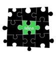 Idea puzzle background vector image