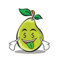 Money mouth pear character cartoon vector image