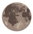 moon doodle vector image