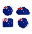 New Zealand flag labels vector image