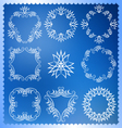 Set of Christmas frames Monogram design elements vector image