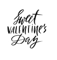Valentines Day Vintage Card With Lettering vector image