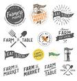 Vintage farm logos and design elements vector image