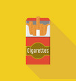 vintage open cigarette pack vector image