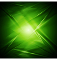 Abstract green wavy design vector image