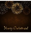 Merry Christmas firework background vector image