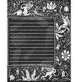 Vintage Blackboard for Valentine Menu vector image