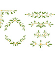 Mistletoe frames vector image vector image