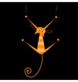 orange striped cat vector image vector image