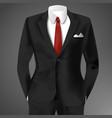 classic male black suit vector image