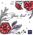 colored floral spring background vector image