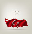 Flag of Turkey as a country vector image
