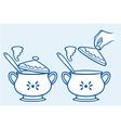 home kitchen pot vector image