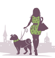 Lady with the Dog vector image