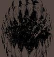 Monster Mouth Grunge version vector image
