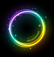 neon gradient circle background vector image