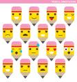Pencil emoticons vector image