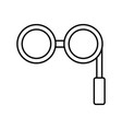 retro glasses icon vector image