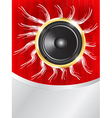 speaker on red background vector image
