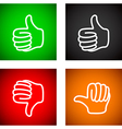 thumbs up and down set vector image