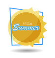 hello summer 6 vector image