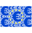European Union and the euro vector image vector image