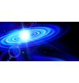 Blue galaxy vector image vector image