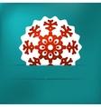 Christmas snowflake applique  EPS8 vector image vector image