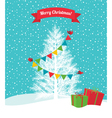 Birds decorate a Christmas tree vector image vector image