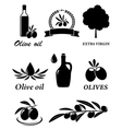set of olive icons vector image vector image