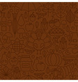 Thin Line Holiday Thanksgiving Day Brown Seamless vector image