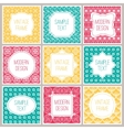 Set of graphic design frames for logo and badges vector image