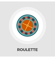 Roulette flat icon vector image