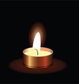 small burning candle vector image vector image