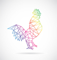 Chicken abstract vector image
