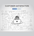 customer satisfaction concept with business vector image