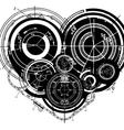Heart mechanisms vector image